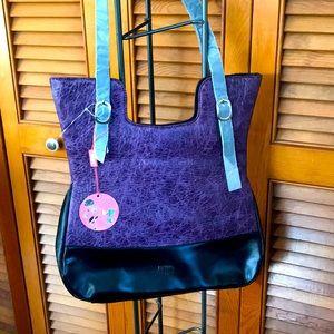Purple Vegan Leather Purse NWT